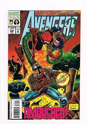 Avengers # 372 The Folds Gather ! grade - 8.5 scarce book !!