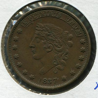 Hard Times Token 1837 Liberty/Millions for Defence, HT-49