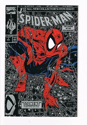 Spider-Man # 1 Collector's Item Issue McFarlane ! Black cover grade 9.0 scarce !