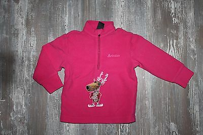 Odlo ♥ Fleece Shirt Wintersport Outdoor Ski Pullover Gr. 80 pink Motiv  ♥