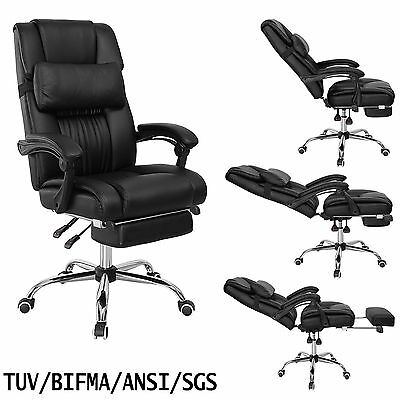 Recline Executive Computer Office Chair PU Leather High Back Swivel Reclining