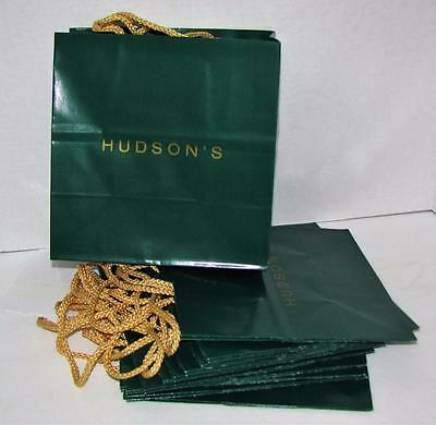 12 Unused Vintage Hudson's Hudsons Department Store Tote Shopping Bags