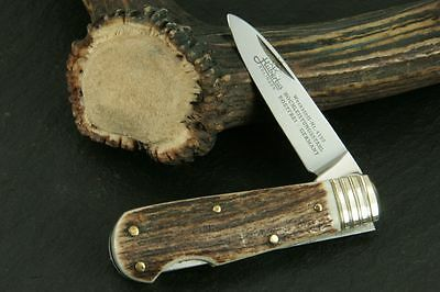 "Hubertus German Nobility Hunting Pocket Folding Knife 2.17"" Blade/ Stag * New *"