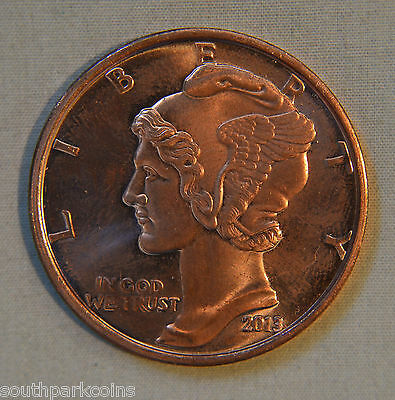 2013 MERCURY DIME 1oz .999 FINE COPPER ROUND