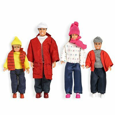 LUNDBY™ 60.8052 smaland Puppenfamilie in Winterkleidung in 1:18