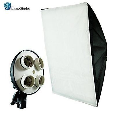 "LimoStudio Photography Light Lighting Tent  20""x28"" Softbox Diffuser 4Socket Lig"
