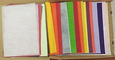 Bulk Lot of Scrapbooking Crepe and Fibre Papers (60 papers total) **Brand New**