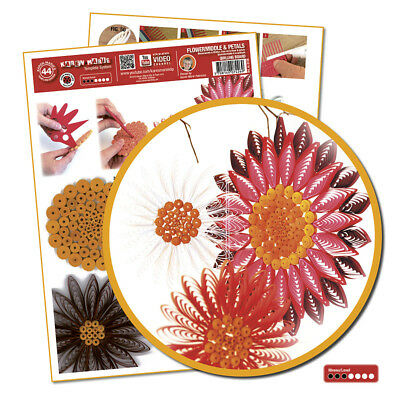 Quilling Template Flowermiddle & Petals ( ohne Pappe)