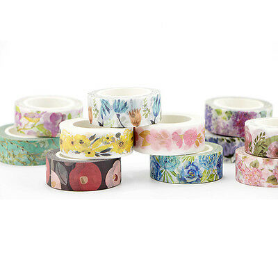 Pop Decorative Roll Washi Tape Sticky Paper Masking Adhesive Crafts Colorful DIY