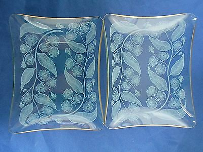 Vintage Chance Calypto 2 small rectangular dishes  Michael Harris 1959