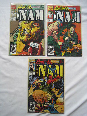 PUNISHER INVADES 'NAM. 'NAM #s 67,68,69 : complete 3 issue STORY. 1992. MARVEL