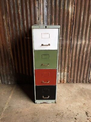 1x Metal Filing Drawers Vintage Cabinet Industrial Office Upcycled Loft Living