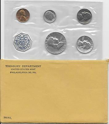 1961 US PROOF SET 90% SILVER IN ORIGINAL MINT PACKAGING with envelope