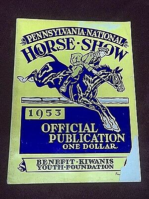 1953 Pennsylvania National Horse Show Vintage Program  Equestrian  Photos  Ads