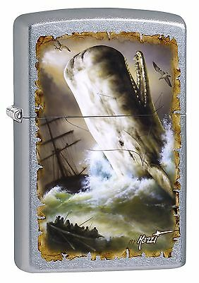 "Zippo ""mazzi Moby Dick"" Street Chrome Color Lighter ** New **"
