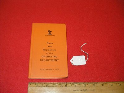 1970 Illinois Central RR Rules and Regulations of the Operating Department Book