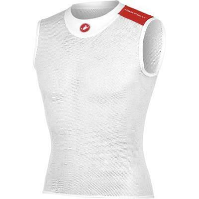 Castelli 2016/17 Core Mesh Sleeveless Cycling Base Layer - A13029 (White - S/M)