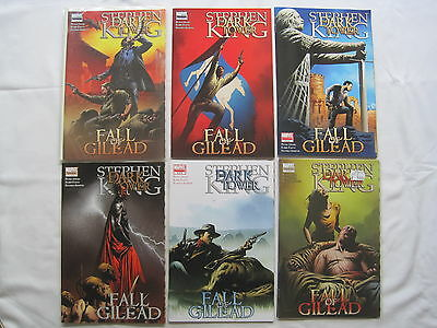 "STEPHEN KING : DARK TOWER : ""FALL of GILEAD"" complete 6 issue series.MARVEL.2009"