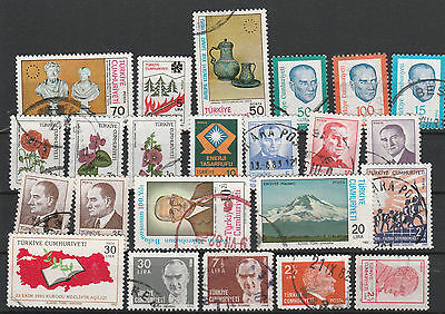 Turkey Mix canceled Postage Stamps Stamps Los Right 2582