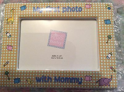 New Russ Baby Photo Frame 4 X 6 My First Photo With Mommy New Ceramic Nursery