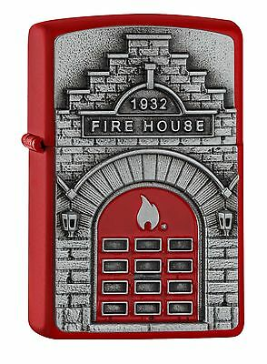 "Zippo ""fire House 1932"" Red Lighter ** New In Box **"