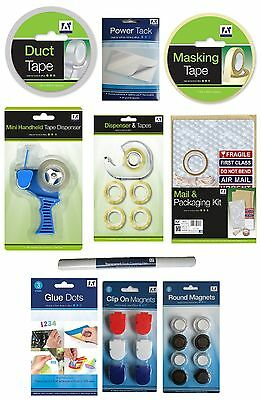 Range of TAPE Glue Dots White Tack Parcel Wrapping Bubble Labels Magnets {Anker}