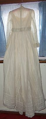 Vintage Victorian Style Ivory Lace Wedding Dress