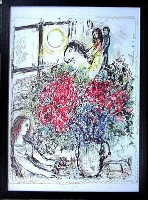 MARC CHAGALL -Le Chevauchee- HANDSIGNIERT 50x70 Offset Lithographie orig.signed