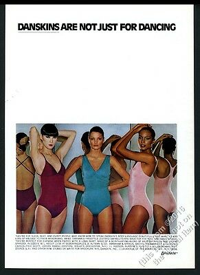 1976 Danskin Danskins leotard swimsuit 3 women photo vintage print ad