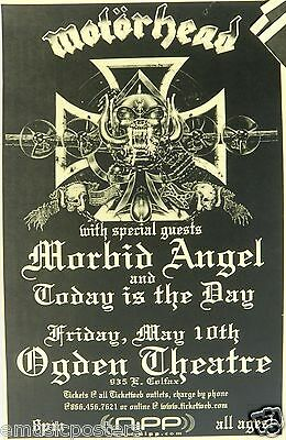 Motorhead / Morbid Angel / Today Is The Day 1998 Denver Concert Tour Poster
