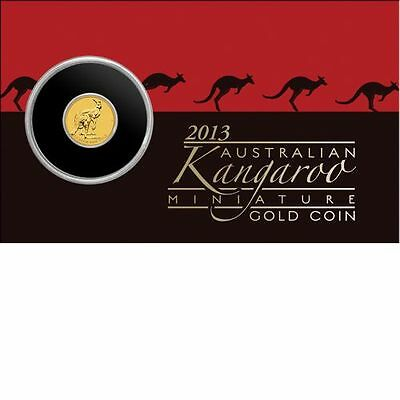 2013 Australian Kangaroo Miniature Gold Coin 0.5g 99.99% Pure Perth Mint - GIFT