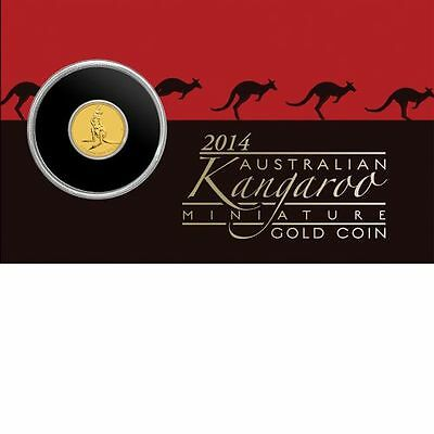 2014 Australian Kangaroo Miniature Gold Coin 0.5g 99.99% Pure Perth Mint - GIFT