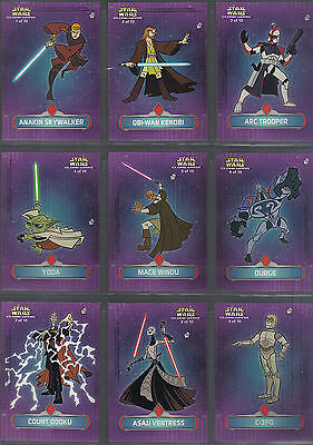 Star Wars Clone Wars Complet de 10 Stickers