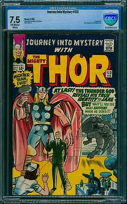 Journey into Mystery # 113  Thor Reveals his Identity  !  CBCS 7.5 scarce book !