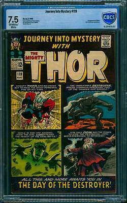Journey into Mystery # 119  2nd appearance Destroyer  !  CBCS 7.5 scarce book !