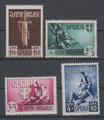 Serbia Germany occupation for war invalids 1943 MH *