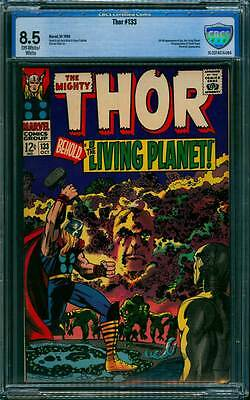Thor # 133  Thor vs Ego, the Living Planet  !  CBCS 8.5 scarce book !