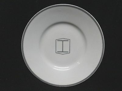 """BETHLEHEM STEEL * RARE Cafeteria 6-3/8"""" PLATE with I-BEAM LOGO * SPARROWS POINT"""