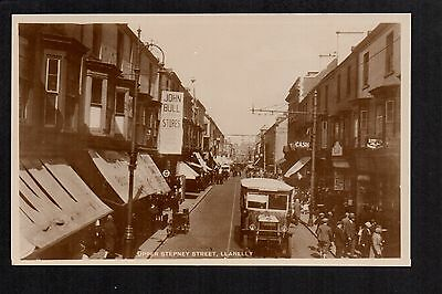 Llanelly - Upper Stepney Street - real photographic postcard