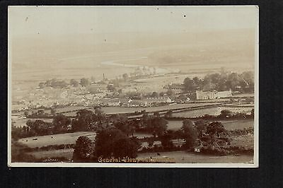Carmarthen - General View - real photographic postcard