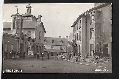 Llandovery - The Square -  printed postcard