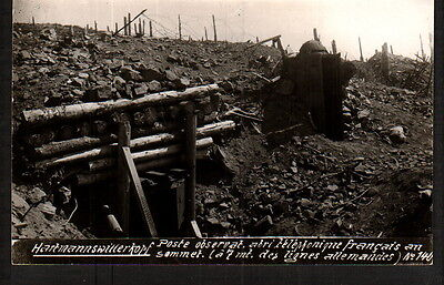Ab2650  Ww1  Observation Post W. Telephone Only 7 Mtr From Ennemy Rppc