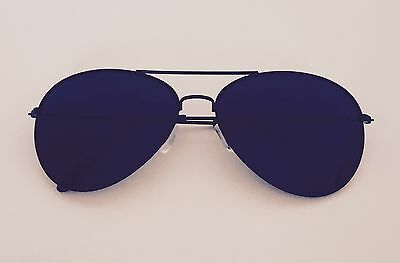 New Shades Aviator Sunglasses All Black Classic Party Hot Lunette Cop Pilot