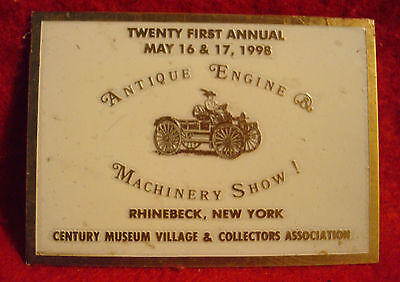 1998 Century Museum Village Collector Associtation 21st Annual Brass Show Plaque