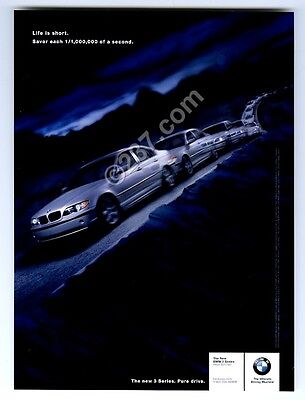 2002 BMW 3-series silver car photo vintage print ad