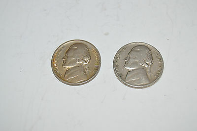 1938-D and 1938-S Jefferson Nickels Circulated