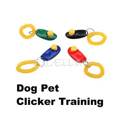 Click Clicker Obedience Training Trainer Aid Wrist Strap for Puppy Dog Cat Pet