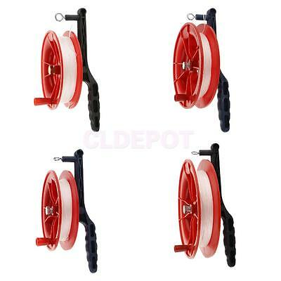 Red Fire Kite Grip Reel Screw Winder Wheel Handle W/ Twisted String Toy YOU WISH