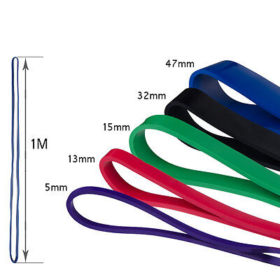 5 Set Of Heavy Duty Resistance Band Loop Power Gym Fitness Exercise Yoga Workout