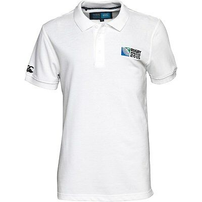 CANTERBURY RUGBY 2015 WORLD CUP Mens No.8 White Polo Size XXX/L